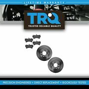 Trq Brake Pad And Rotor Front Ceramic Kit W/chemicals For Audi Porsche Volkswagen