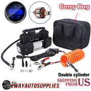 Heavy Duty Portable Air Compressor Car Tire Inflator Electric Auto 12v Dc 150psi