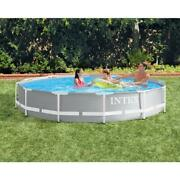 Intex 26710eh 12ft X 30in Prism Metal Frame Above Ground Swimming Pool No Pump