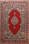 Antique Vegetable Dye Geometric Mahal Handmade Area Rug Oriental Carpet 11and039x14and039