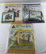 3 Laugh And Learn Abc Music And Me Childrens Cds Around The Farm/animals And Bks New
