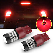 For Honda Civic Accord 7443 Red Strobe Flashing Led Stop Brake Tail Light Bright