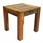 Nirvana Reclaimed Timber Boat Wood Lamp Side Table Indian Handmade Furniture