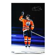 Connor Mcdavid Signed Autograph 20x30 Photo Opening Night Hat Trick Oilers Uda