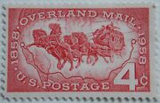 1958 Overland Mail Mnh Stamp From Usa
