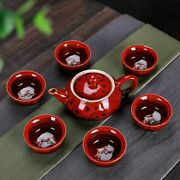 Creative Tea Sets 7pcs Ceramic Pottery For Household Kitchen Dining Accessories