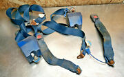 79-83 Toyota Pickup Truck Seat Belt Reciever Buckle Blue Set Right Left Bench Oe