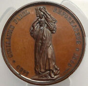 1875 Switzerland Bern Cathedral Completion Tower Swiss Silver Medal Pcgs I88181