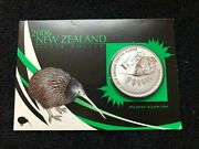 2006 New Zealand 99.9 Silver Reverse Proof Coin Brown Kiwi Ogp Free Shipping