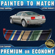 New Painted To Match Rear Bumper Cover Replacement For 2005-2009 Ford Mustang V6