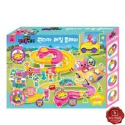 Pinkfong And Hogi Wonder Car Rail Play Toy Vehicle Race Track Cars Light Sounds