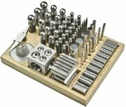 Dapping Punch Set Jumbo Doming And Steel Swage Block Professional Forming Kit 56pc