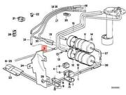 Oem Bmw E32 Saloon Cooling System Fuel Return Pipe 16121179384 Genuine New