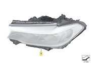 Genuine Bmw 5and039 G30 G31 F90 Headlight With Led Technology Right 63117214952
