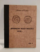 72 Jefferson Head Nickels 1938 To 1965 Library Of Coins Album 1939-d Mg