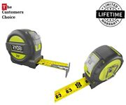 Ryobi 25 Ft Best Tape Measure With Overmold Wireform Belt Clip Inch Measuring