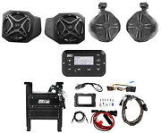 Front Speakers+8 Tower Speakers+bluetooth Player For 2018 Polaris Ranger Xp1000