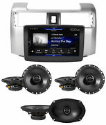Alpine 9 Carplay Receiver+front+rear Speakers For 2014-2018 Toyota 4-runner