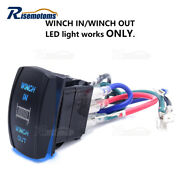 7pin Laser Blue Winch In/out Rocker Switch For Honda Pioneer 700/1000 Rancher