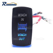 7pin Laser Blue Winch In/out Rocker Switch For Wildcat Prowler Yamaha Viking Yxz