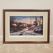 """Terry Redlin Limited Edition """"coming Home"""" Signed W/ Authenticity   Mat And Frame"""