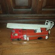 Vintage Sears Robuck Snorkel Rescue Fire Engine Truck Tin And Plastic Toy Rare