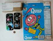 1996 Quaker Quisp Quasy Wristwatch In Original Tin With Cereal Box Included-cool