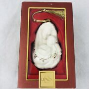 Lenox Madonna And Child Christmas Ornament Mother Baby Gold Tassel With Box