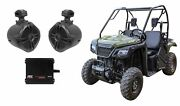 6.5 Rollbar Roll Cage Tower Speakers+mtx 2-channel Amplifier For Honda Pioneer