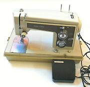 Vintage Sears Kenmore Sewing Machine 1430 With Sears Peddle And Case
