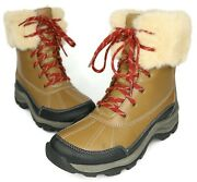 Clarks Womenand039s Brown Leather Faux Fur Mazlyn Aritc Winter Boots Size 8m Us