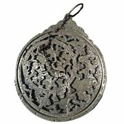 Brass Antique Islamic Planispheric Astrolabe - Extremely Old Engraved - Science