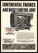 1946 Continental Motors Muskegon Michigan Red Seal Oil Field Engines Print Ad