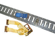 8 5and039 Gray E-track W/ 8 Ratchet Straps 8 O Rings And 8 Tie Downs For Trailers