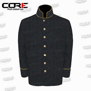 Us Civil War Confederate 7 Csa Richmond Gray Sack Coat With Pipping Trims