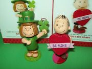 Hallmark Lot Linus's Big Heart And St Patty's Day 7th And 8th Peanuts 2013 Ornaments