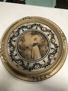 """Vtg Resin And Wood Frame With A Print Of """"the Letter"""" 2 Victorian Ladies"""