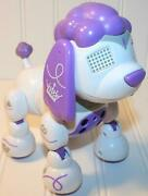 Zoomer Zuppies Princess Purple White Interactive Poodle Puppy Robotic Dog