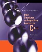Data Structures And Algorithm Analysis In C++ Uni... By Weiss, Mark A. Hardback