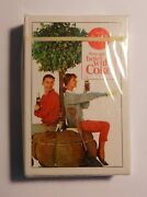 Vintage Coca Cola 1963 Girl Serving Coke Sealed Deck Of Playing Cards 3