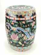 Chinese Famille Rose Qing Dynasty Garden Stool   Antique