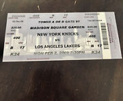 Kobe Bryant 61pt Full Ticket La Lakers At Msg 2/2/09 Authentic Box Office Ticket