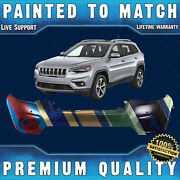 New Painted To Match Front Upper Bumper For 2019 2020 2021 Jeep Cherokee W/ Park