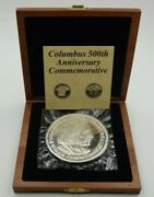 Columbus 500th Anniversary Commemorative One Troy Pound .999 Fine Silver Medal