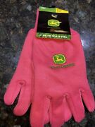 Womens John Deere Gloves Pink New With Tags