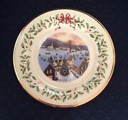 30 Lenox 2012 Annual Holiday Christmas Collector Plates New With Tag Excellent