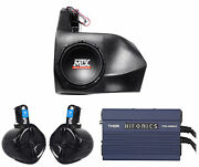Subwoofer For 2012-2016 Can-am Commander/maverick Non-x3+box+2 Speakers+amp