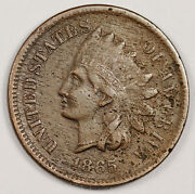 1865 Indian Head Cent. Fancy 5. Vf. 157103