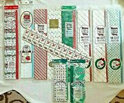 Vintage Christmas Tissue Paper 60and039s-90and039s Tissue Wrapping Paper Rare Lot Of 11