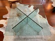 Rare And Limited Speciality Madison Ave Glass Cocktail Coffee Table
